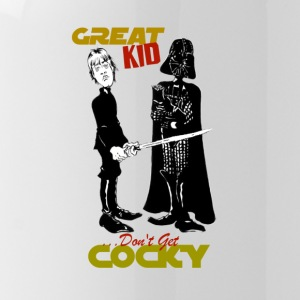 Gwiz Art Luke & Vader 'Don't Get Cocky' - Water Bottle