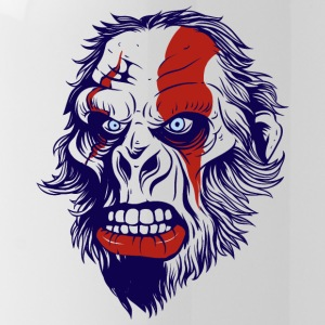 funny t shirt design with gorilla - Water Bottle