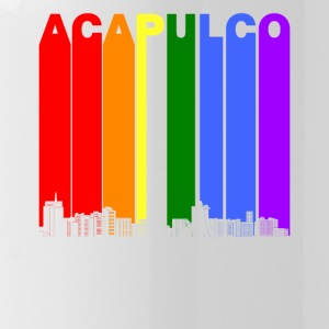 Acapulco Mexico Skyline Rainbow LGBT Gay Pride - Water Bottle