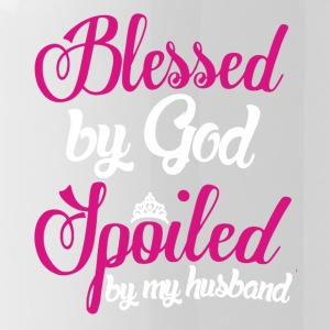 Blessed By God Spoiled By Husband Shirt - Water Bottle