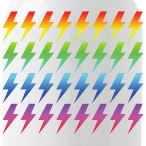 Retro Rainbow Lightning Bolt Repeated Pattern - Water Bottle