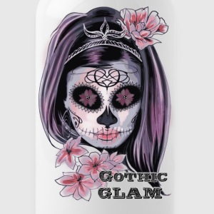 Sugar Skull woman Gothic Glamour - Water Bottle