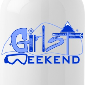 ski_weekend_blue - Water Bottle