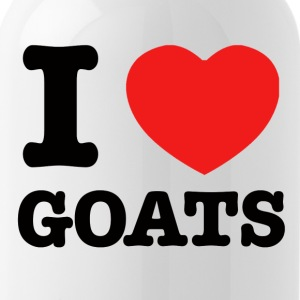 I Love goats - Water Bottle