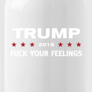 trump fuck your feeling - Water Bottle