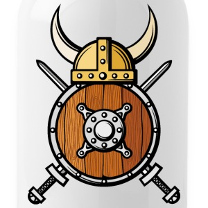 viking ax shield helmet horns cool - Water Bottle