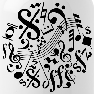 Music Notes and Signs - Water Bottle