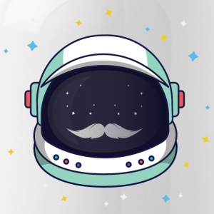 Astronaut Loves Mustache - Water Bottle