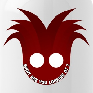 Red mask illustration with a text in it - Water Bottle