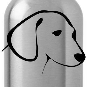 Cute drawing of a puppy head - Water Bottle
