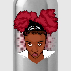 CurlyGirl Kinky Natural Hair Afro Puff T Shirt/Tee - Water Bottle