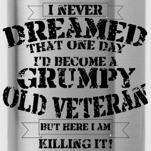 Grumpy Old Veteran - Water Bottle