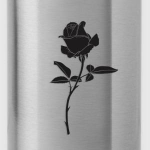black rose - Water Bottle