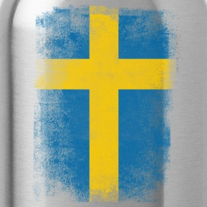 Sweden Flag Proud Swedish Vintage Distressed Shirt - Water Bottle