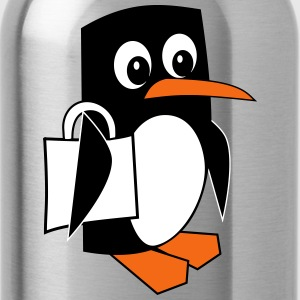 Shopping Penguin - Water Bottle