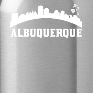 Vintage Style Skyline Of Albuquerque NM - Water Bottle