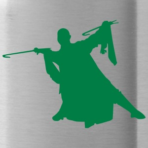 Vector Asian Silhouette - Water Bottle