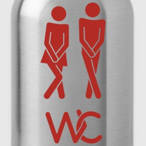 Real toilet sign - Water Bottle