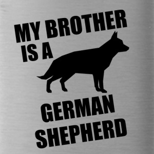 My Brother Is A German Shepherd - Water Bottle