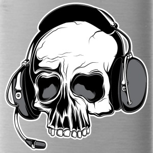 skull_with_headphones - Water Bottle