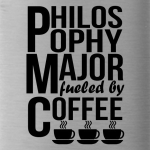 Philosophy Major Fueled By Coffee - Water Bottle