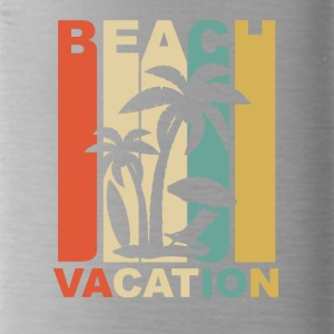 Vintage Beach Vacation Graphic - Water Bottle