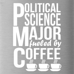 Political Science Major Fueled By Coffee - Water Bottle