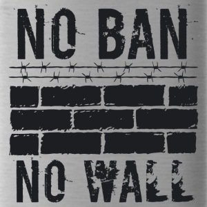 No Ban No Wall black - Water Bottle