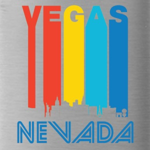 Retro Vegas Skyline - Water Bottle