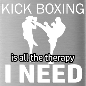 Kick Boxing is my therapy - Water Bottle