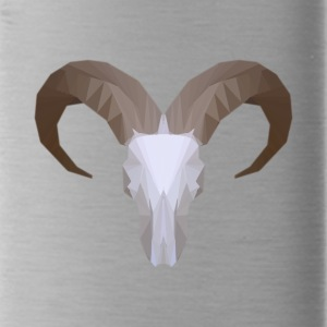 Low Poly Aoudad Skull - Water Bottle
