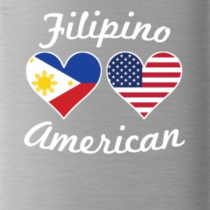 Filipino American Flag Hearts - Water Bottle
