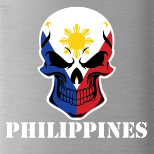 Filipino Flag Skull Philippines - Water Bottle