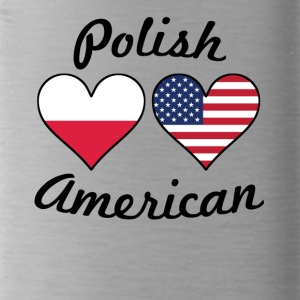 Polish American Flag Hearts - Water Bottle