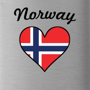 Norway Flag Heart - Water Bottle