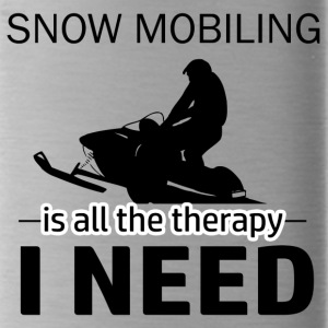 Snow Mobiling is my therapy - Water Bottle