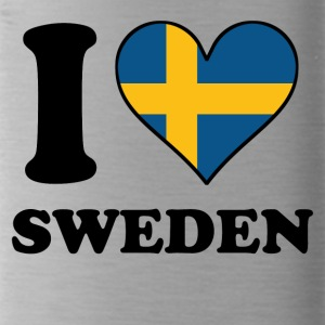 I Love Sweden Swedish Flag Heart - Water Bottle