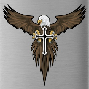 eagle and cross - Water Bottle