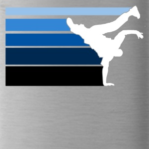 B BOY blue gradient pattern - Water Bottle