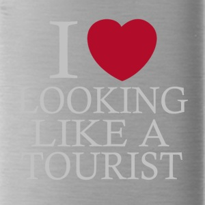 i love looking tourist - Water Bottle
