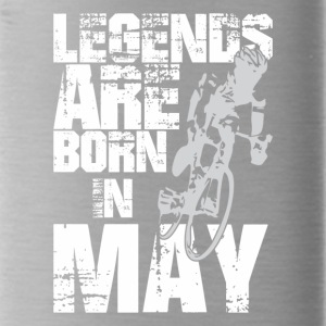 Legends Are Born In May Cycling - Water Bottle