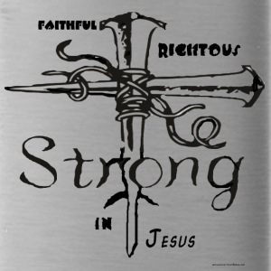 I AM strong in christ - Water Bottle