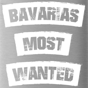 Bavarias most Wanted! Funny! - Water Bottle