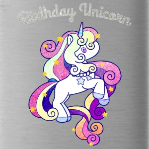 Birthday Unicorn For Girls Shiny Colorful Rainbow - Water Bottle