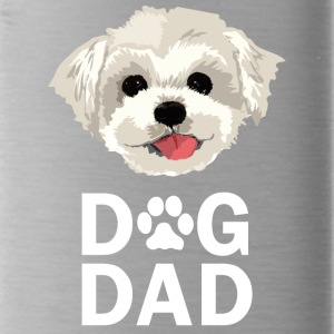 Dog Dad Maltese Funny Fathers Day Gift Paw - Water Bottle