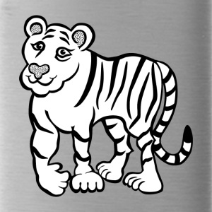 Tiger lineart 2400px - Water Bottle