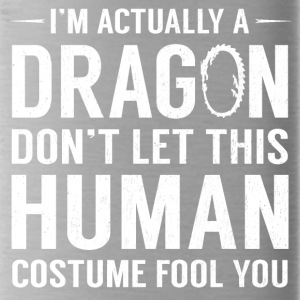I'm Actually A Dragon Funny Halloween Costume - Water Bottle