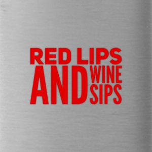 Lips and Wine - Water Bottle