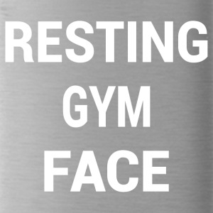 RESTING GYM FACE WHITE - Water Bottle