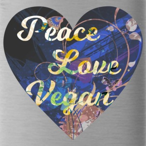 Vegan - Peace, Love, Vegan - Water Bottle